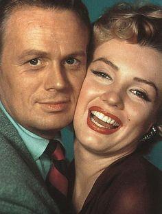 Richard Widmark and Marilyn