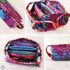 Sew Together Bag SewTogetherBag Tasche Stifte Nähen groß Stoff viele Fächer Anleitung DIY selber machen Mäppchen Schlampermäppchen