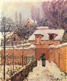 Garden in Louveciennes in the Snow - Alfred Sisley