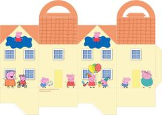 casinha peppa2  Pig party George pig and Pig birthday