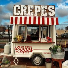 """""""It would be impossible to not get a crepe at this adorable stand in Waco, TX! Thanks for the great find, @breezylake! (Photo: @breezylake, #RSred)"""""""