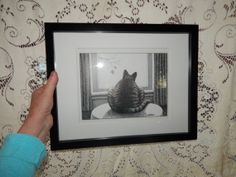 B Kliban Framed Cat Picture looking out the by TheFridayBarn, $19.99