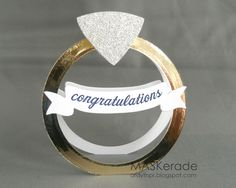 Moxie Fab World Window Challenge - Congratulations! by Ardyth - Cards and Paper Crafts at Splitcoaststampers Wedding Day Cards, Wedding Anniversary Cards, Wedding Invitation Cards, 50th Anniversary, Invitations, Paper Crafts Wedding, Engagement Cards, Engagement Photos, Engagement Ring