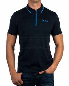 Polos Hugo Boss ® Azul Marino - Pronghorn | Mejor Precio Mens Polo T Shirts, Cut Shirts, Moda Junior, Boys Designer Clothes, Hugo Boss Shirts, Camisa Polo, Party Shirts, T Shirt Diy, Men Looks