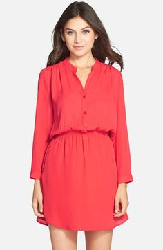 Red long sleeve dress: http://www.stylemepretty.com/collection/1986/