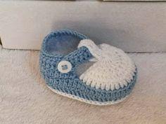 sapatinho croche bebe menino - Pesquisa Google