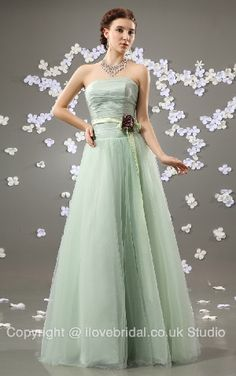 Bonny Ruched Strapless Princess Bridesmaid/Prom Dress With Porcelain