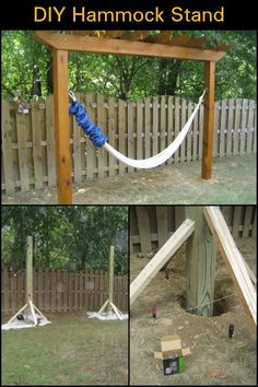 This is the solution if you're short on trees, but want a hammock in your yard!