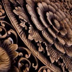 ❤ - carved wood rosette