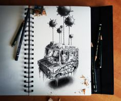 Sketchbook 2013 (La Suite) by PEZ Λrtwork, via Behance