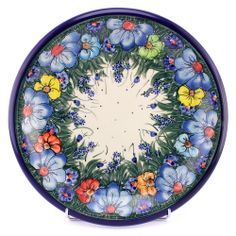 Polish pottery doesn't have to be stamped only! This beautiful pattern is mostly painted. See http://slavicapottery.com