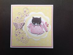 Made by Diane Jarvis - I used the Little Meow Ultimate Die-cut & paper pack plus a TL die Die Cut Paper, Birthday Cards, Dog Cat, Cute Animals, Stamp, Gallery, Cats, Card Ideas, Handmade