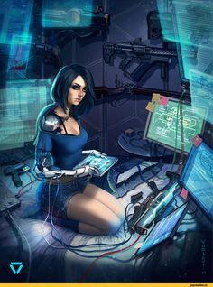 Sci-Fi,art,арт,красивые картинки,арт барышня,арт девушка, art барышня, art девушка,