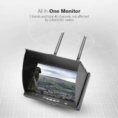 Eachine LCD5802D 5802 5.8G 40CH 7 Inch FPV Monitor with DVR Build-in Battery Sale - Banggood.com