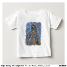 Regal Young Bald Eagle and Moon Painting Infant T-shirt