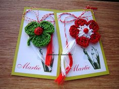 artmonica-handmade: MARTISOARE CROSETATE Diy And Crafts, Crafts For Kids, Arts And Crafts, Japanese Ornaments, International Craft, Crochet Bookmarks, Class Decoration, Newborn Crochet, Celebration Quotes