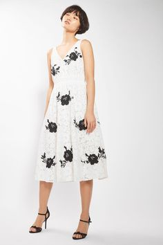 Embroidered Midi Prom Dress - Dresses - Clothing - Topshop