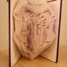 House Crest Harry Potter Book folding by BookFoldingBoutique