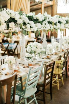 white floating centerpiece | Feather & Twine