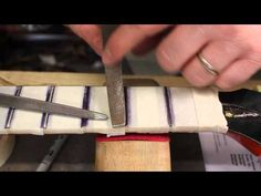 Gibson Chet Atkins repair part 2 - how to level & crown the frets - YouTube