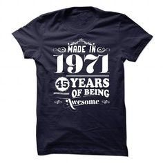 I Love Limited Edition - Made in 1971 T shirts