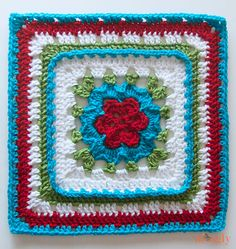 Love this pattern so much! Veronica's Rose by Melissa Green is just another gorgeous 12 inch square who is very easy and enjoyable to make. The rose is beautiful and simple…You'll love to see how this puffy petal flower turns into a nice smooth flat square, just like blooming in your square. And here is …