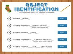 identifying objects when given a description including nouns, adjectives, verbs or attributes