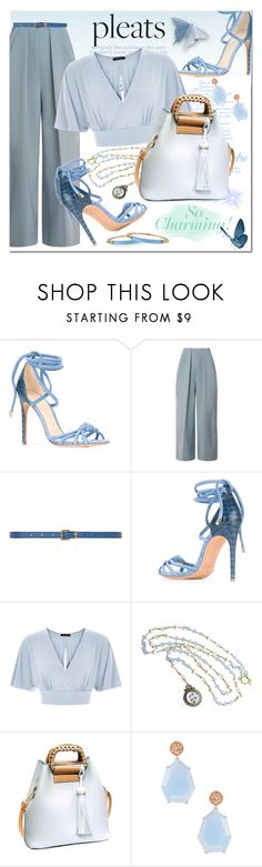"""""""Give Me Pleats"""" by idetached ❤ liked on Polyvore featuring Alexandre Birman, Delpozo, Dorothy Perkins, Karen Sugarman Designs, Suneera and Alexis Bittar"""