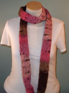 Cupcake Infinity Scarf Pink and Brown Loop Scarf by JandSKnitts, $18.00