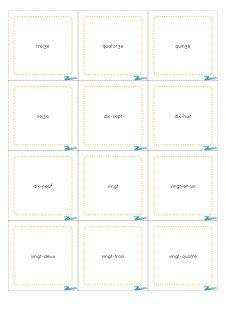 Cartes nombres en lettres