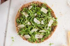 Recipe: Pesto Pizza with Fresh Arugula and Parmesan