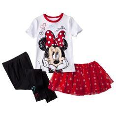 Disney Minnie Mouse Toddler Girls' 3-Piece Pajama Set