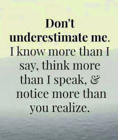 Do not understimate