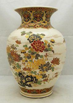 Japanese Edo Gosu-blue Satsuma Vase, signed, bunka 2nd.