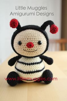 Amigurumi Crochet Pattern  Dottie the Ladybug by littlemuggles, $5.00