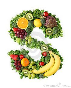 Alfabeto de la fruta y verdura