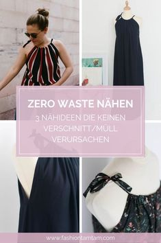 Three simple sewing projects - the best ideas for beginners Zero Waste Sewing, Sewing without waste, Easy Sewing Projects, Sewing Projects For Beginners, Sewing Tutorials, Sewing Patterns, Sewing Ideas, One Shoulder Dress Long, Simple Summer Dresses, Style Simple, Diy Mode