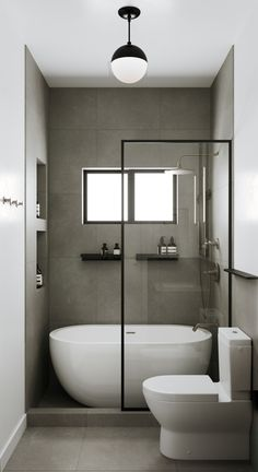Another view of same bathroom. Cool idea with the bath in shower Small Bathroom With Tub, Small Bathroom Interior, Small Bathroom Layout, Bathroom Tub Shower, Bathroom Design Luxury, Modern Small Bathrooms, Master Bathroom, Bathtub Shower Combo, Small Tub