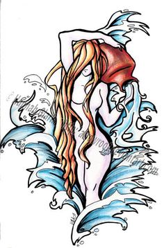 Zodiac Aquarius Tattoo Design