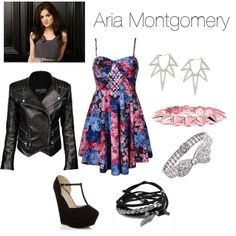 """Aria Montgomery Inspired"" by acidicstef on Polyvore"