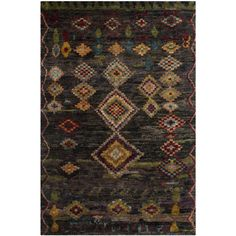 Safavieh Hand-knotted Tangier Black Wool/ Hemp Rug (4' x 6') | Overstock™ Shopping - Great Deals on Safavieh 3x5 - 4x6 Rugs