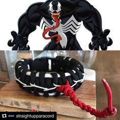 Police Thin Blue Line Paracord Survival Bracelet Various Sizes Tom Hardy Venom