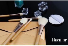 5Pcs Premium Synthetic Wooden Handle #Makeup #Brush Travel Set - Save 25% with this code AGOACYNC #Online shopping link: http://www.amazon.com/dp/B018E72O9K