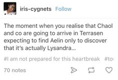 And yrene doesn't know that lysandra-aelin doesn't know about what aelin did for yrene...