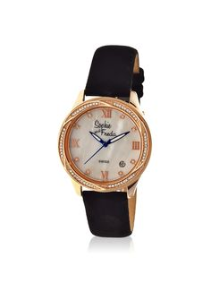 Sophie and Freda Women's SAFSF2005 Los Angeles Black/White Leather Watch at MYHABIT