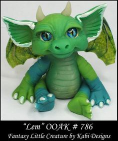 Fantasy Little Dragon DollHouse Art Doll Polymer Clay CDHM OOAK IADR Lem Mini #KabiDesigns