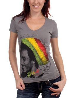 Bob Marley - Rasta Tam Womens T-Shirt in Asphalt, Size: Large, Color: Asphalt Bob Marley,http://www.amazon.com/dp/B004RSVL8G/ref=cm_sw_r_pi_dp_C5EOsb1HP17GKFX4   SIZE LARGE