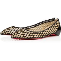 Christian Louboutin Pigaresille Flat ($695) ❤ liked on Polyvore featuring shoes, flats, christian louboutin, louboutin, black, christian louboutin flats, summer flats, flat heel shoes, summer shoes and high heels stilettos