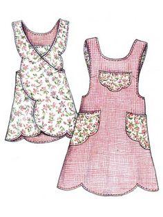 Scalloped Apron Sewing Pattern