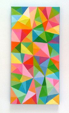 Abstract Painting / Colored Triangles / acrylic painting/ blue red yellow green pink orange Colors/Home Decor/ Mosaic -geometric painting Geometric Deer, Geometric Drawing, Geometric Painting, Geometric Flower, Geometric Wall Art, Oil Painting Abstract, Acrylic Painting Canvas, Geometric Shapes, Happy Birthday Drawings